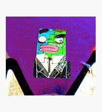 Square Man - Graffiti - Street Art Photographic Print