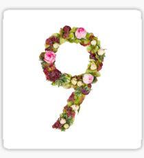 The number Nine Sticker