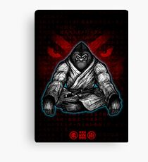 Black Belt Gorilla  Canvas Print
