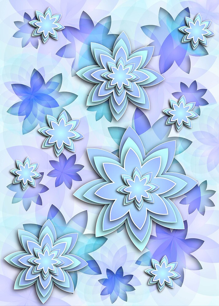 Case abstract lotus flowers by MEDUSA GraphicART