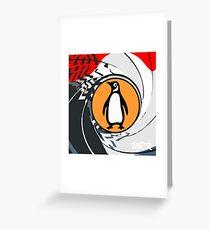 penguin bond Greeting Card