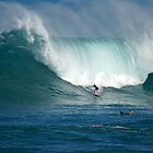Waimea Bay Green Monster by kevin smith  skystudiohawaii