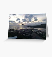 Surf Sunset Greeting Card