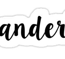 Wanderlust Footprint in Black and White - Close Crop Sticker