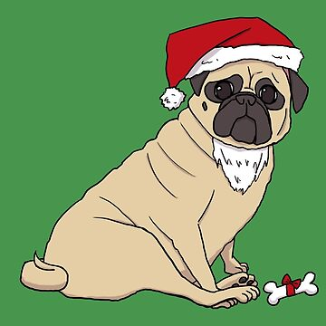 Santa Pug The Christmas Pug - No Text by pugshop
