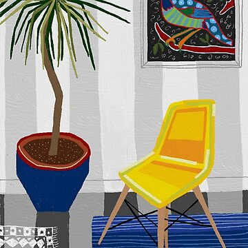 Yellow chair by lesleypaints