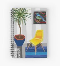 Yellow chair Spiral Notebook