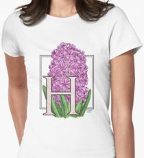 H is for Hyacinth Women's Fitted T-Shirt