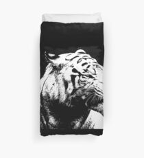 9 Angry Tiger By Chris McCabe - DRAGAN GRAFIX Duvet Cover