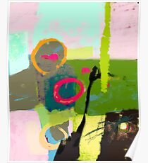 Abstract landscape - The inner landscape Poster