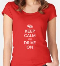 Mini-Keep Calm Women's Fitted Scoop T-Shirt