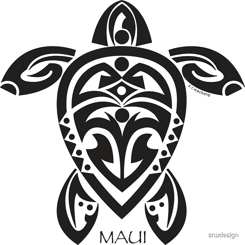 Quot Black Tribal Turtle Tattoo Maui Quot Stickers By Susan R