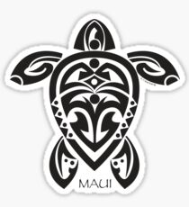 Black Tribal Turtle Tattoo / Maui Sticker