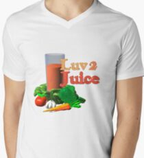 Luv 2 juice by Valxart.com Mens V-Neck T-Shirt