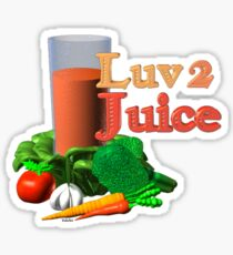 Luv 2 juice by Valxart.com Sticker