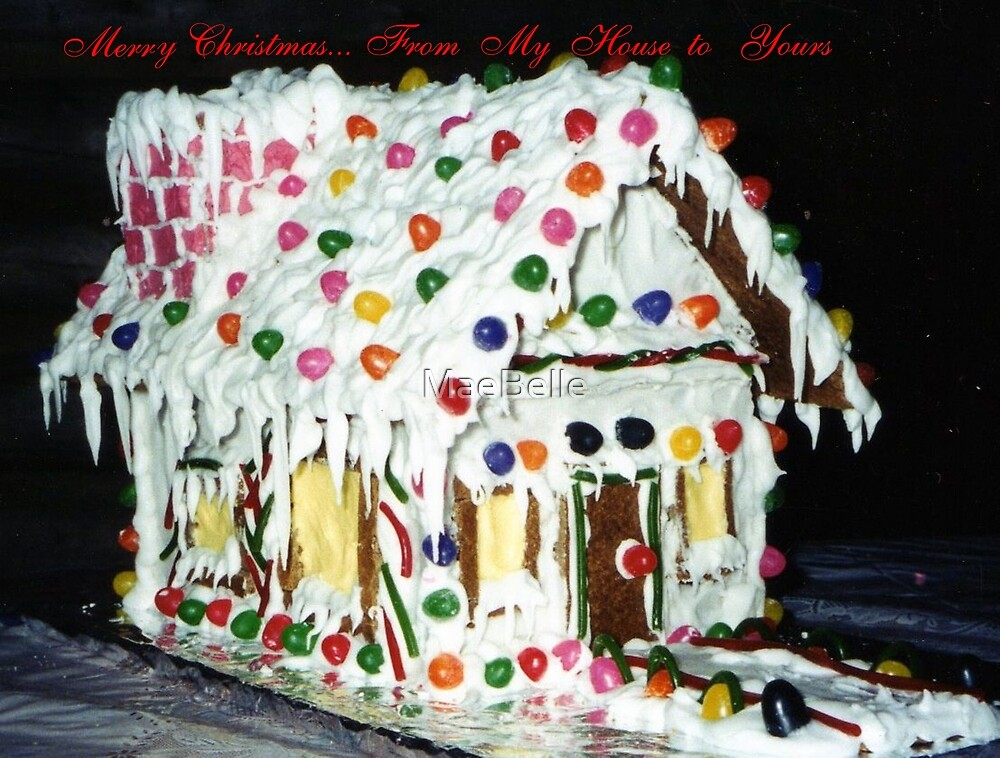 Ginger Bread House Card by MaeBelle