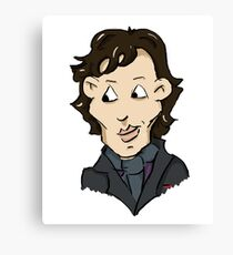 sherlock bbc cumberbatch cartoon Canvas Print
