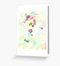 Abstract landscape - Thinking of you Greeting Card