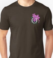 O is for Orchid - patch Unisex T-Shirt