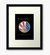 Memorial Day Greeting Card American WWII Soldier Flag Framed Print