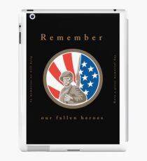 Memorial Day Greeting Card American WWII Soldier Flag iPad Case/Skin