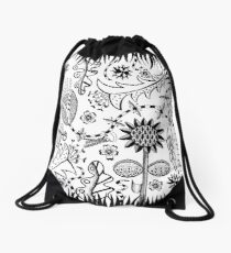 garden party Drawstring Bag
