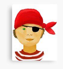 Little Pirate Boy Canvas Print