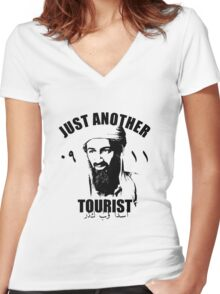 osama bin laden Women's Fitted V-Neck T-Shirt