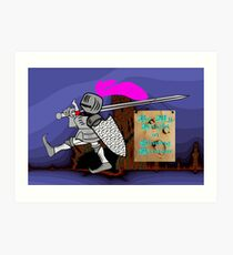 Be My Knight in Shining Armour Art Print