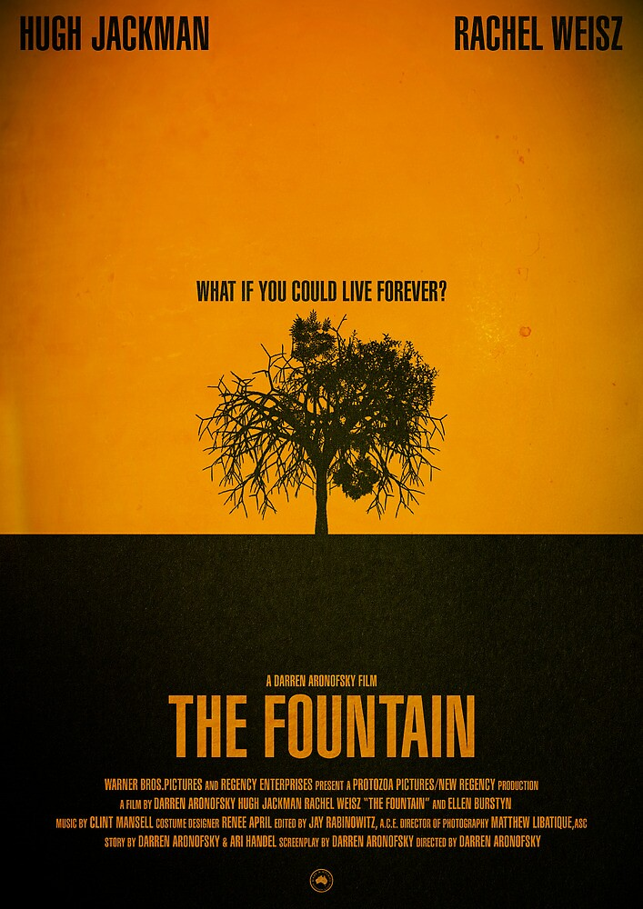"""Movie Poster - ""THE FOUNTAIN"""" by Mark Hyland 