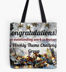 Feature Banner for Challenge - Weekly Theme Challenge Group Tote Bag