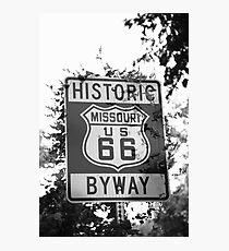 Route 66 Shield in Missouri Photographic Print