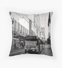 Take the 96 Tram toward East Brunswick Throw Pillow