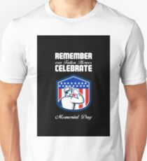 Memorial Day Greeting Card American Soldier Saluting Flag T-Shirt
