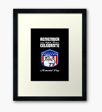 Memorial Day Greeting Card American Soldier Saluting Flag Framed Print