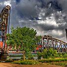 Missouri River Railroad Bridge HDR by Kim Barton