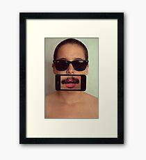 mustache~ Framed Print