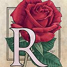 R is for Rose card by Stephanie Smith