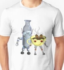 CoffeeBot and MilkBot by Valxart Unisex T-Shirt
