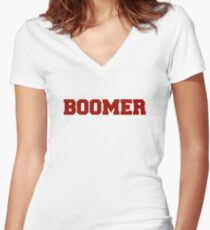 Boomer Women's Fitted V-Neck T-Shirt