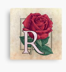 R is for Rose Canvas Print