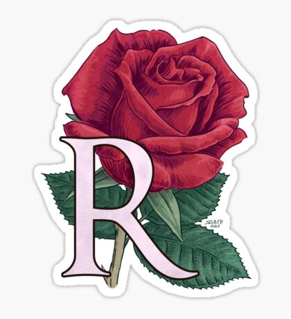 R is for Rose Sticker