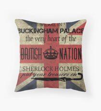 Listen to Mycroft Throw Pillow