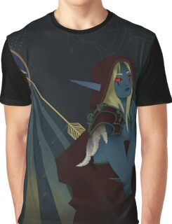 Lady Sylvanas Windrunner Tarot Card Graphic T-Shirt