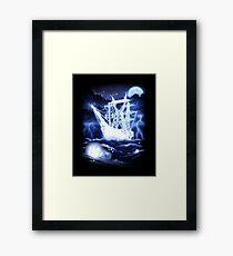 """High-Voltage Ghost Ship"" Framed Print"
