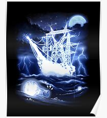 """High-Voltage Ghost Ship"" Poster"