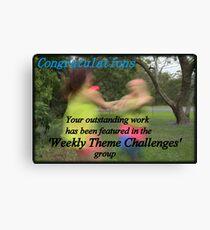Banner Challenge Canvas Print