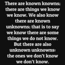 Known knowns by FrontierMM