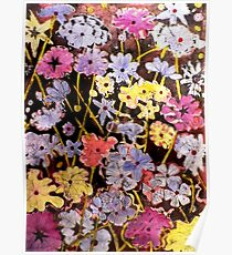 Multi-color Flower Etching Poster