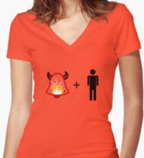 Hells Bells Man! Women's Fitted V-Neck T-Shirt